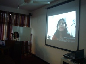 Ms. Sharmin Murshid speaking via skype